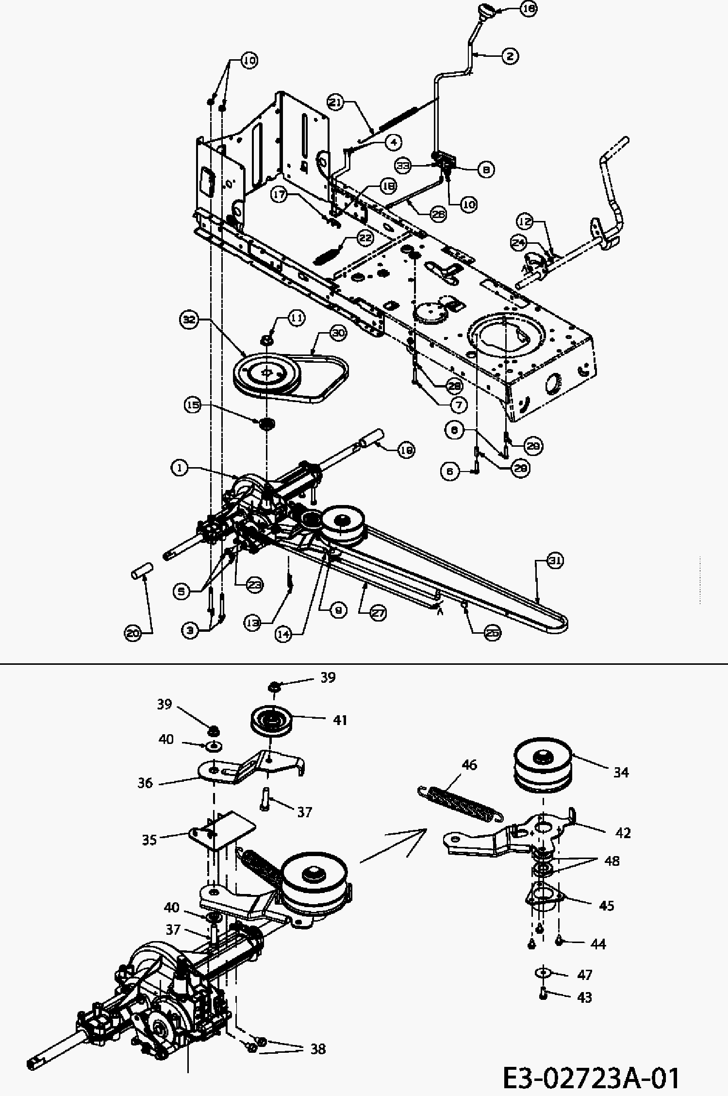 782489 Help Please Drive Belt Simplicity Zt1644 Hydro on simplicity lawn mower belt diagram