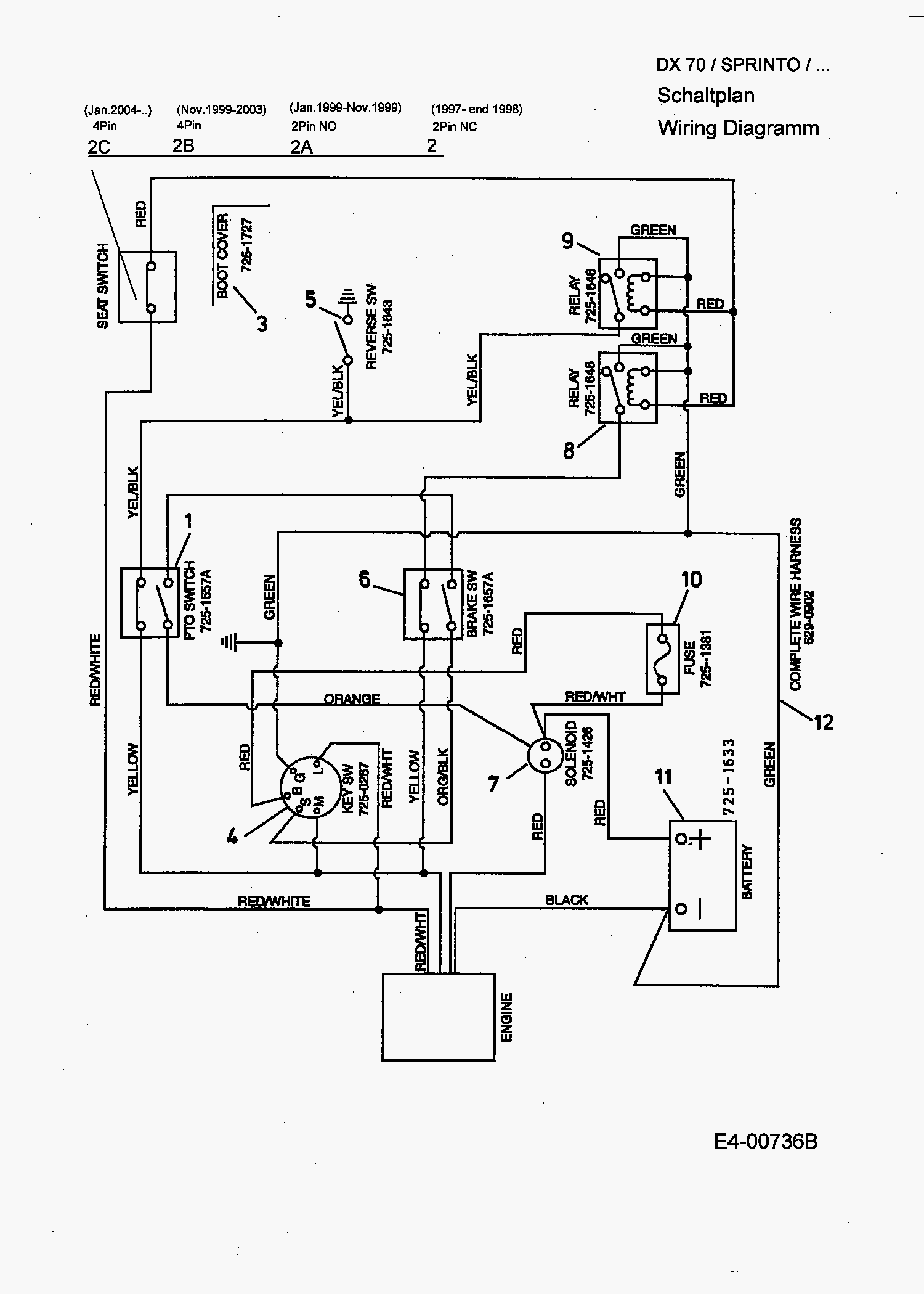 wiring diagram for mtd yard machine