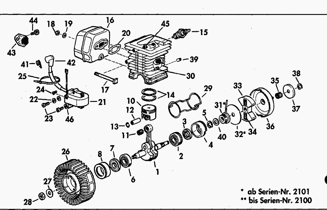 spare parts lists for solo chain saws engine