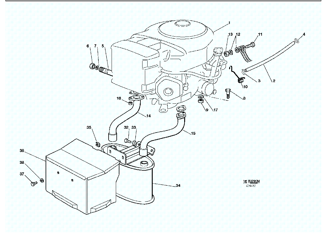 spare parts lists for solo lawn mower engine honda gcv 610