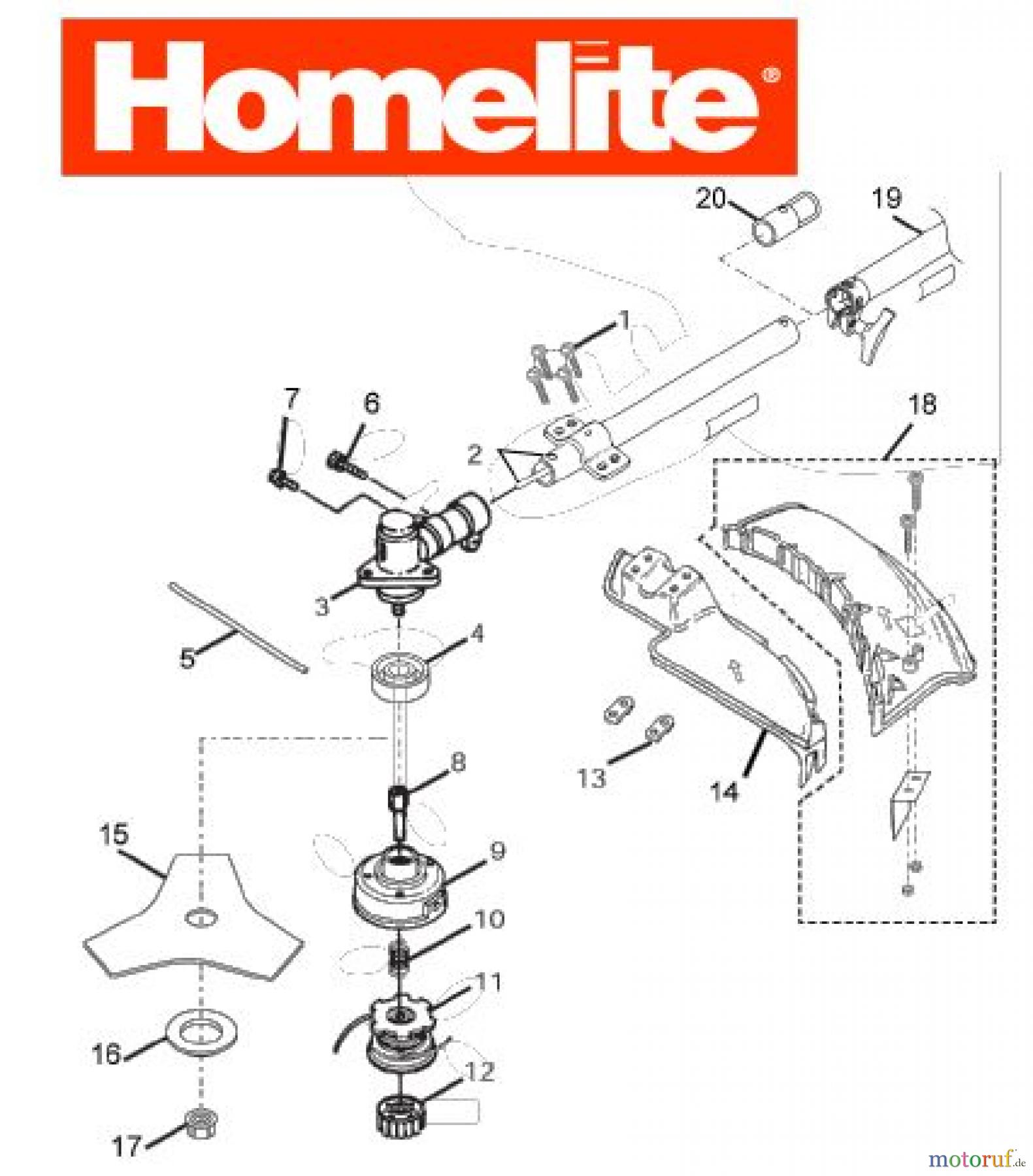 Homelite F3045 Parts