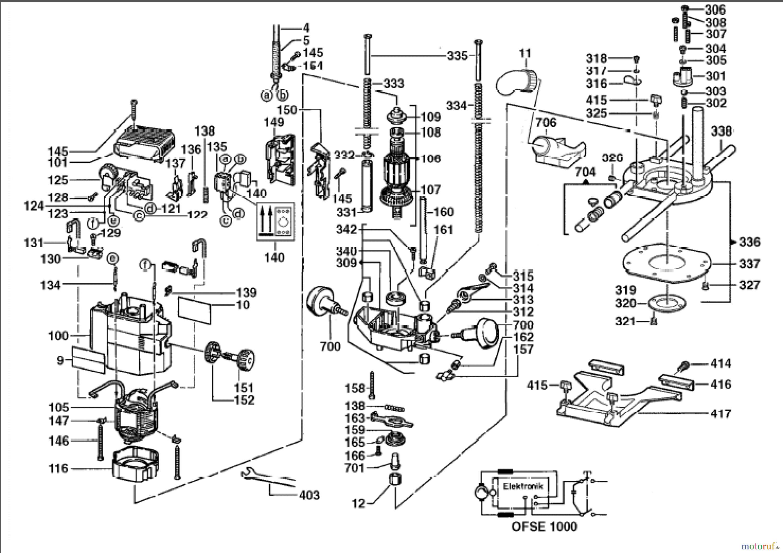 Milwaukee Oberfrsen Ofse1000 Oberfraese Spareparts Electric Ke Control Wiring Diagram