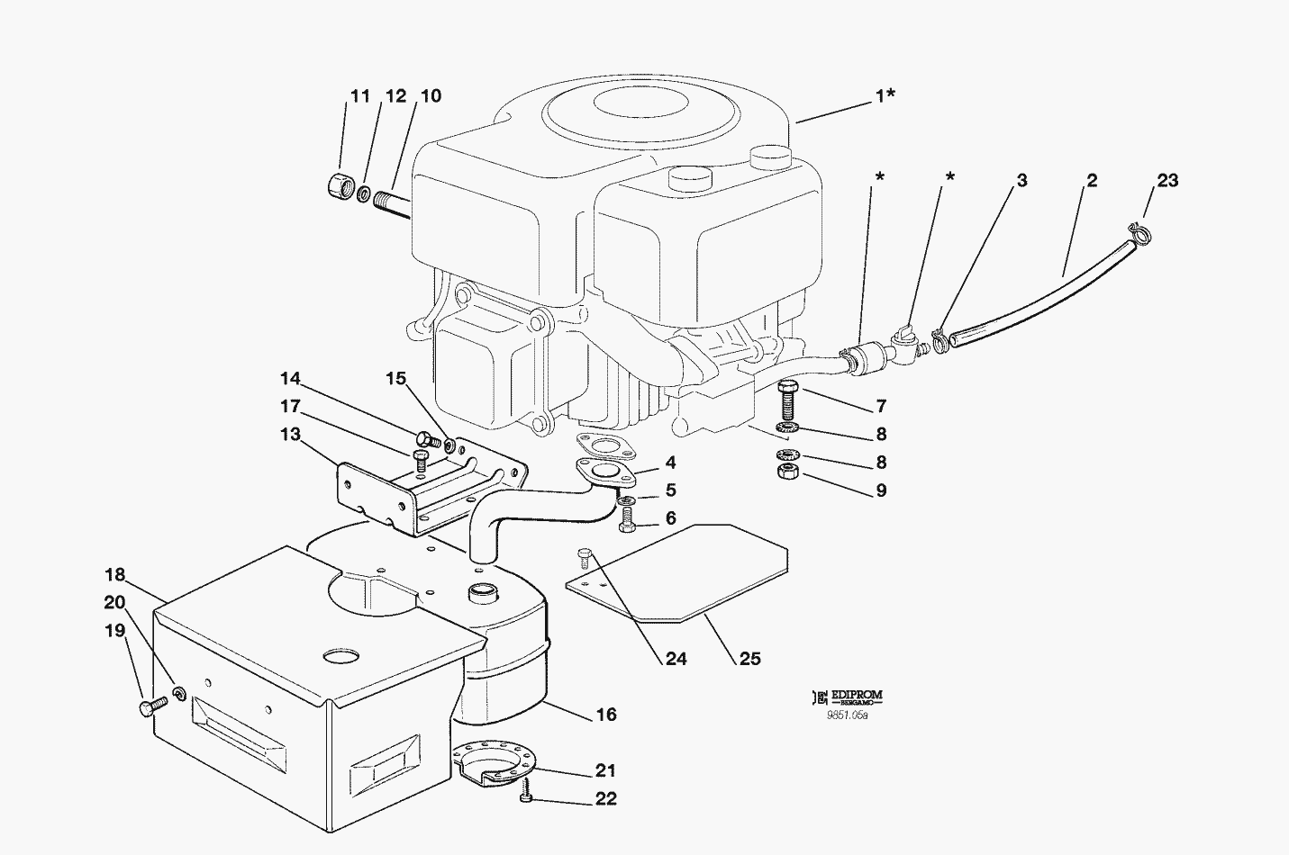 Craftsman Lawn Mower Engine Parts Diagram | Displanet.net
