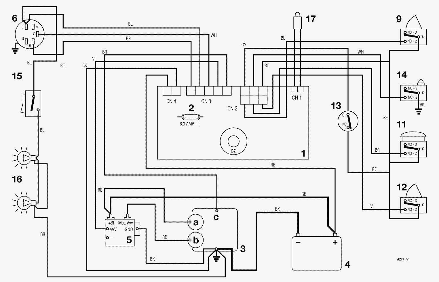 Murray Lawn Mower Wiring Diagram 12 5 Hp Riding Trusted Spare Parts Lists For Solo Wire 105 125 13 Electrical